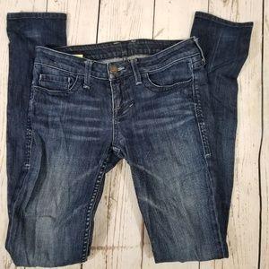 William Rast dark sraight leg stretch jeans sz 25